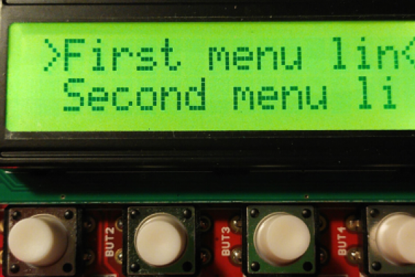 Arduino v praxi - užívateľské menu