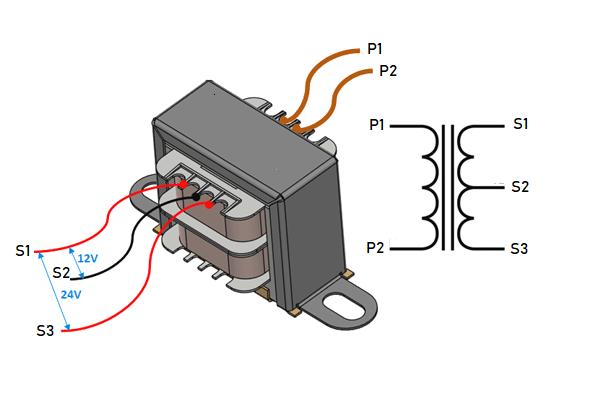 Čo je transformátor so symetrickým vinutím