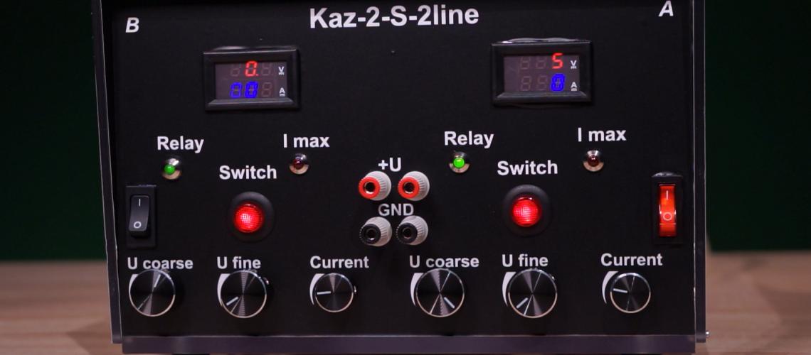 DVOJITÝ LABORATÓRNY ZDROJ KAZ-2-S-2line