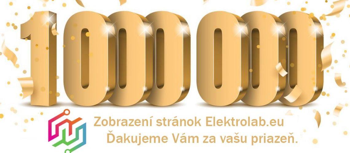 ElektroLab.eu oslavuje svoj ďalší významný míľnik - 1.000.000 zobrazení