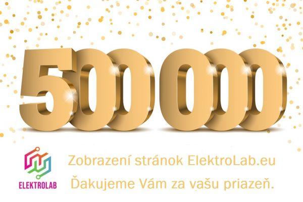 ElektroLab.eu oslavuje svoj prvý míľnik - 500.000 zobrazení