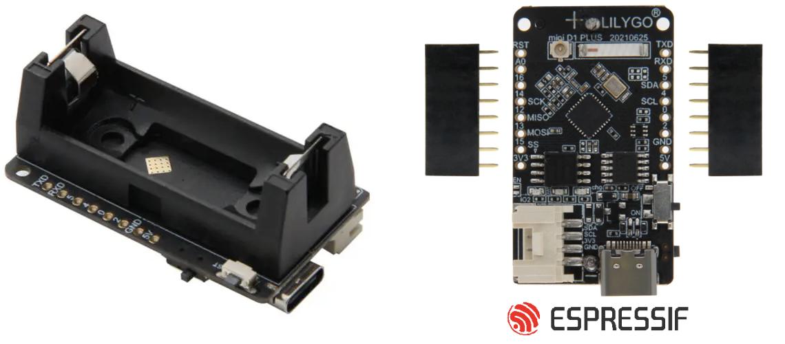 ESP32-C3 s držiakom batérie 16340, kompatibilná s Mini D1