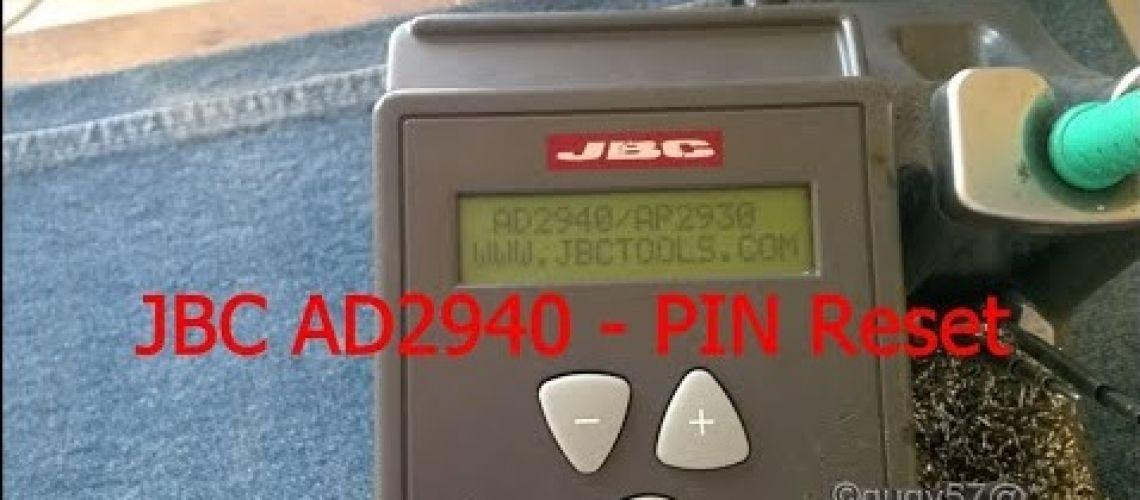 JBC AD2940 - PIN Reset