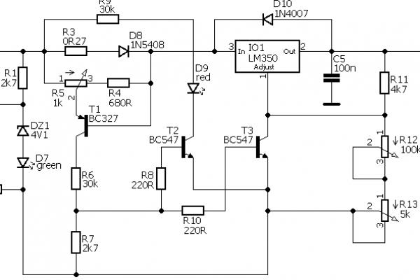 Jednoduchý laboratórný zdroj 0-30V 0-3A