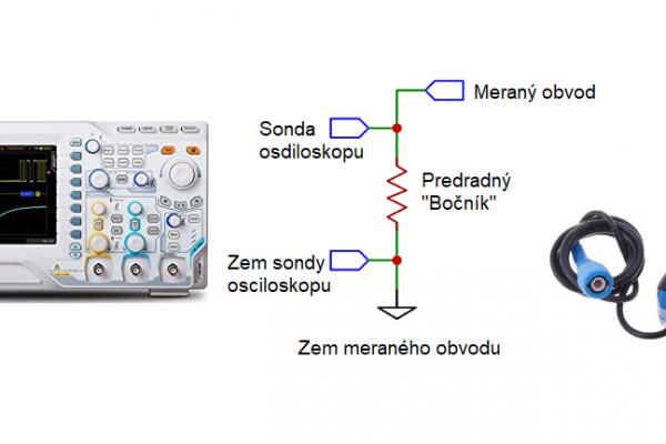Meranie prúdu za pomoci osciloskopu