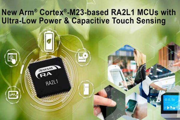 Mikroprocesory RA2L1 s veľmi nízkym výkonom a pokročilým kapacitným dotykovým snímaním