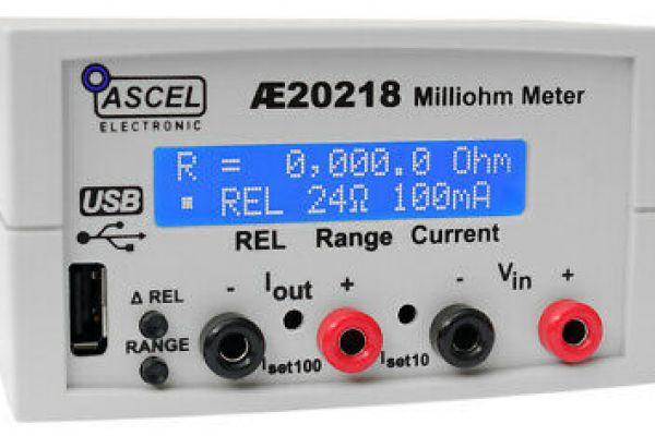 Miliohmeter AE20218 od spoločnosti ASCEL ELECTRONIC