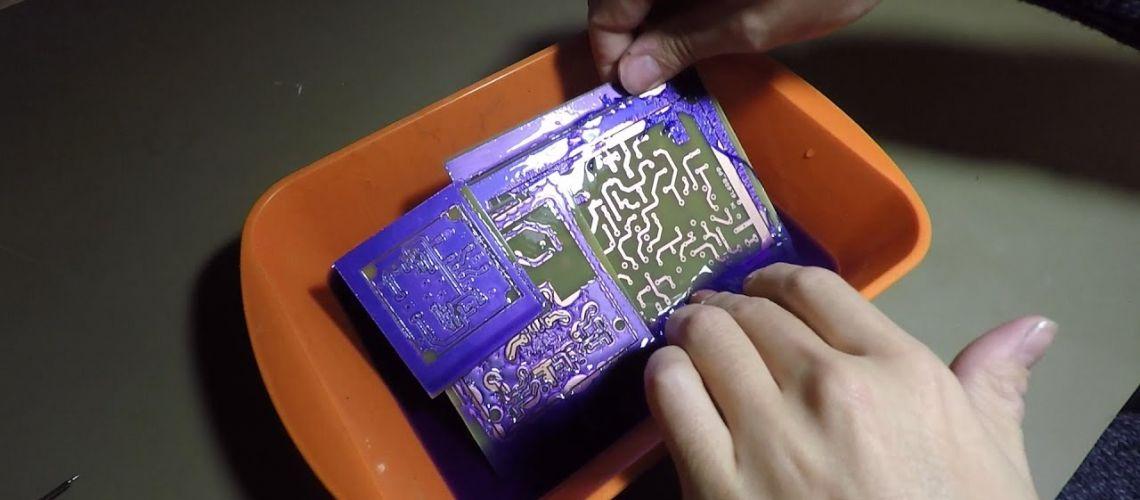 Návod na výrobu plošných spojů negativní fotocestou