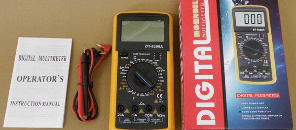 Nebezpečný výrobok : digitálny multimeter DT-9205A