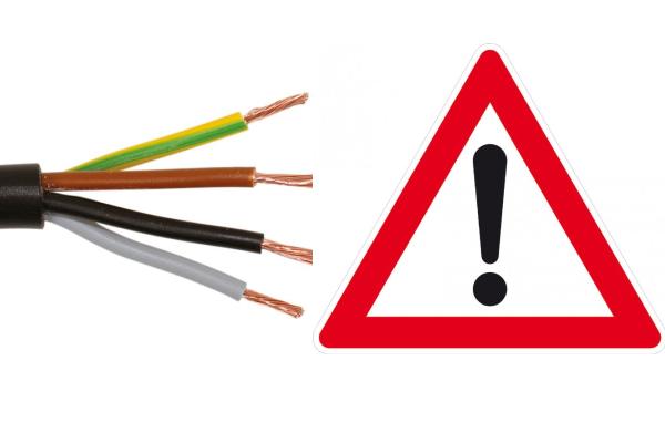Nekvalitní kabely H05 VV-F výrobce z Číny
