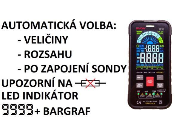 Netradiční Multimetr GVDA GD128