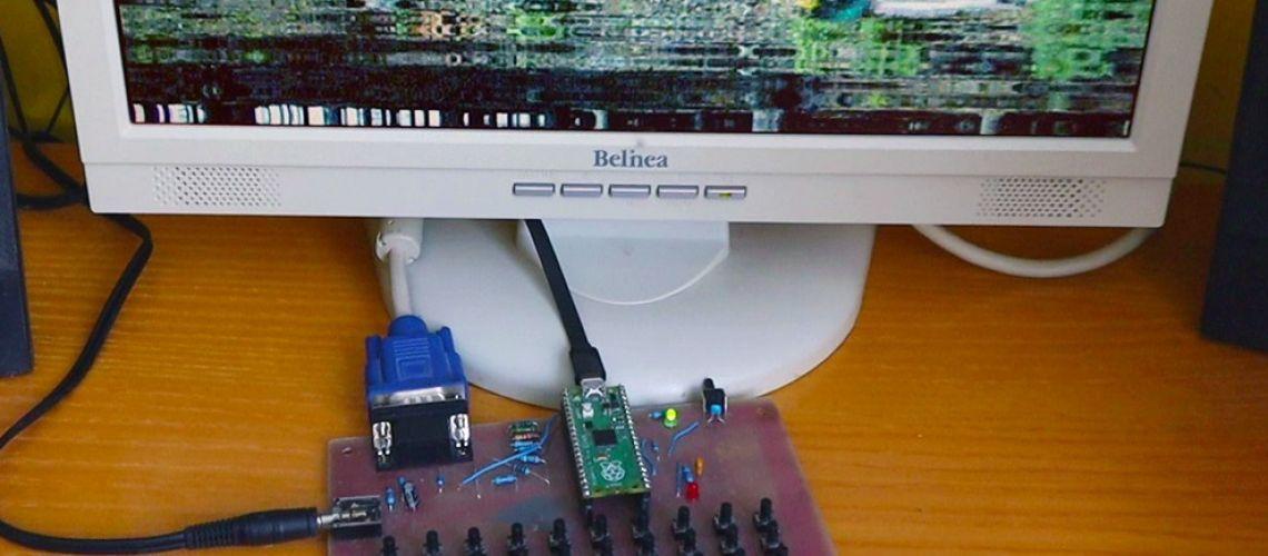 PicoVGA - displej VGA/TV na Raspberry Pico