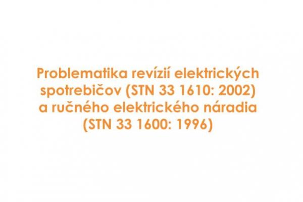 Pozvánka na prednášku o revíziách el. spotrebičov a el. ručného náradia