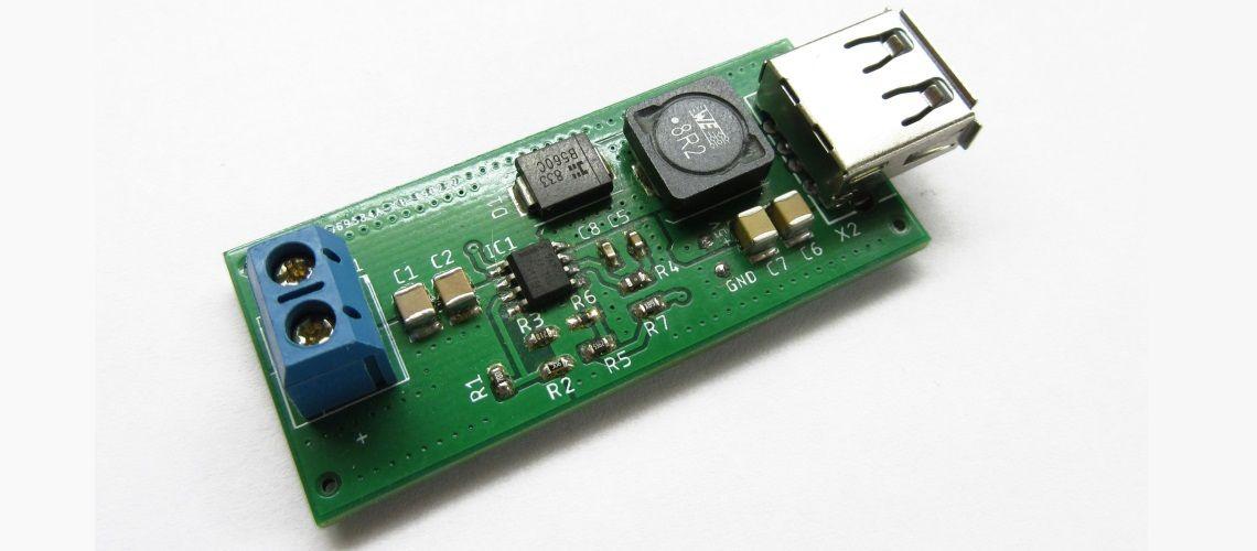 Prevodník 60V na 5V/3.5A Buck s výstupom USB