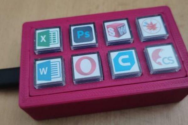 Programovateľná makro klávesnica