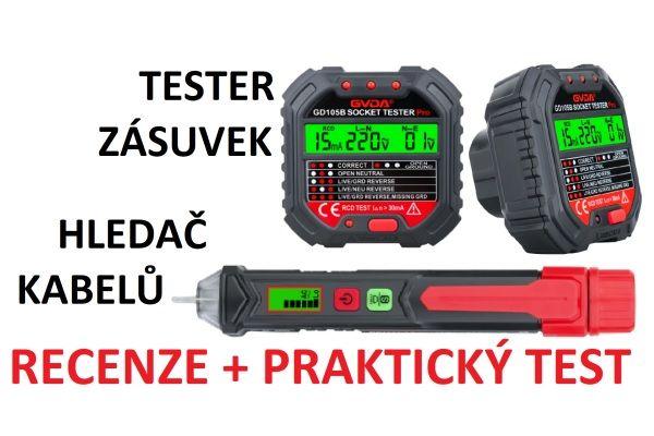 Videorecenze detektoru kabelů a testeru zásuvek od GVDA