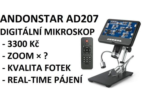 Videorecenze digitálniho mikroskopu Andostar AD207