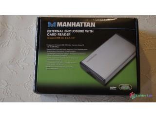 """Kovový obal na externý HDD 2,5"""" s čítačkou kariet 8 in 1"""
