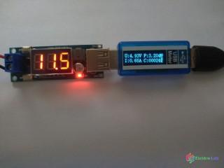 Step down menič napätia z USB výstupom 6- 35V na 5V 1.5A