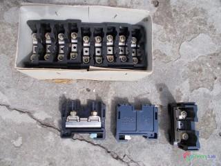 Radové svorky Cu 35-50mm2 na DIN lištu