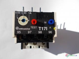 Relé tepelné istiace nadprúdové T17I, 1A