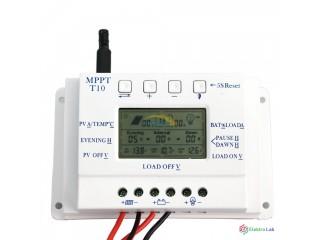 Solarny regulator nabijania 12/24V 10A(nastavitelne nabijacie napatie)