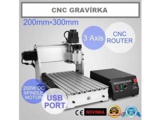 CNC gravirka / fréza 3020T 3-osa / 4-osa - NOVÁ