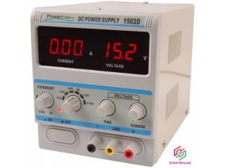 Servisní laboratorni zdroj POWERLAB 1502D 0-15V, 0-2A LED