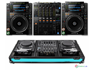 Open Box Pioneer DJ Pro Bundle DJ Mixer DJM900NXS2 +2 Multi Player