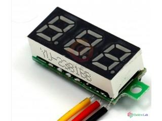 """Digitálny voltmeter červený 0,28"""" DC 0-100V."""