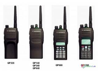 Prenosné a vozidlové rádiostanice Motorola.