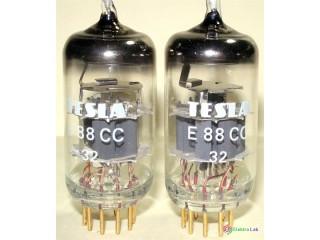Elektrónka E88CC Tesla - Zlaté nožičky